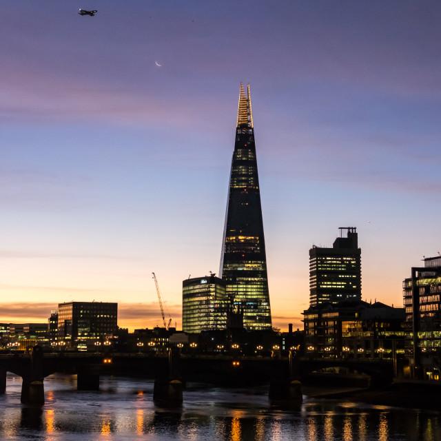 """""""The London Shard At Sunrise."""" stock image"""