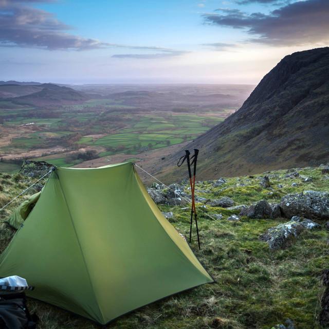 """""""Wild Camping in Cumbria"""" stock image"""