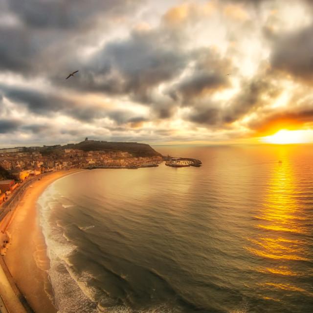 """Scarborough sunrise"" stock image"