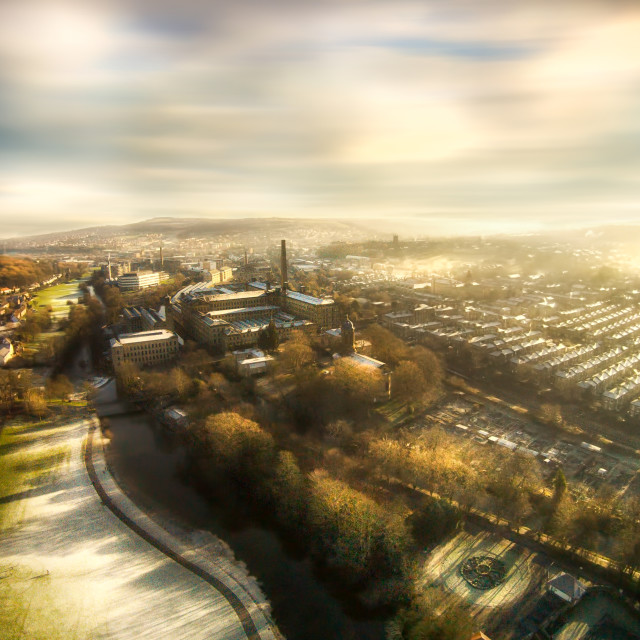 """Saltaire Village"" stock image"