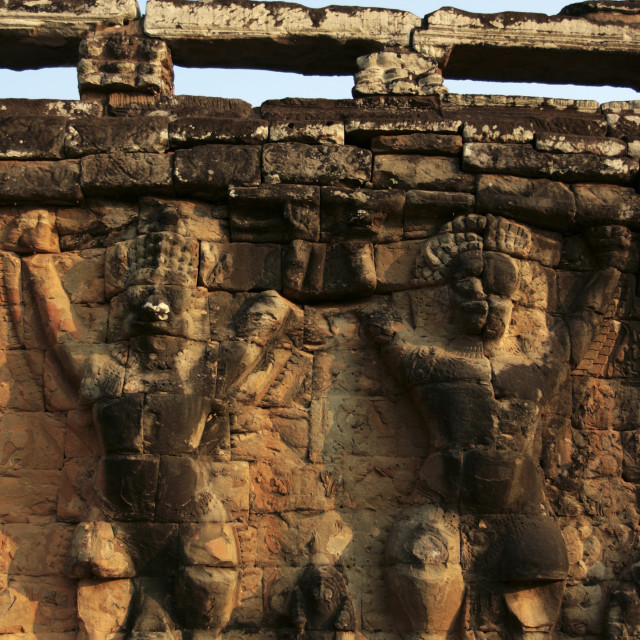 """Terrace of the Leper King, Angkor Thom"" stock image"