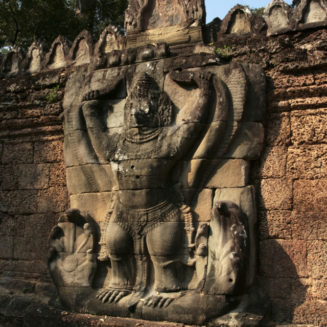 """""""Terrace of the Leper King, Angkor Thom"""" stock image"""