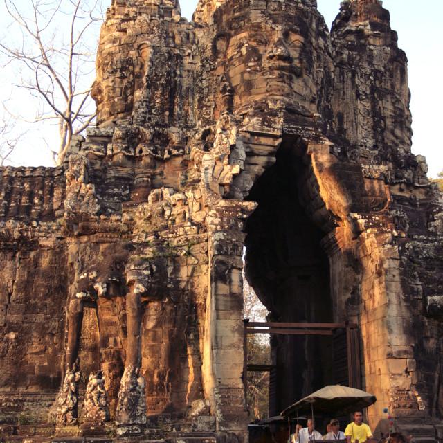 """Angkor Thom Victory Gate"" stock image"