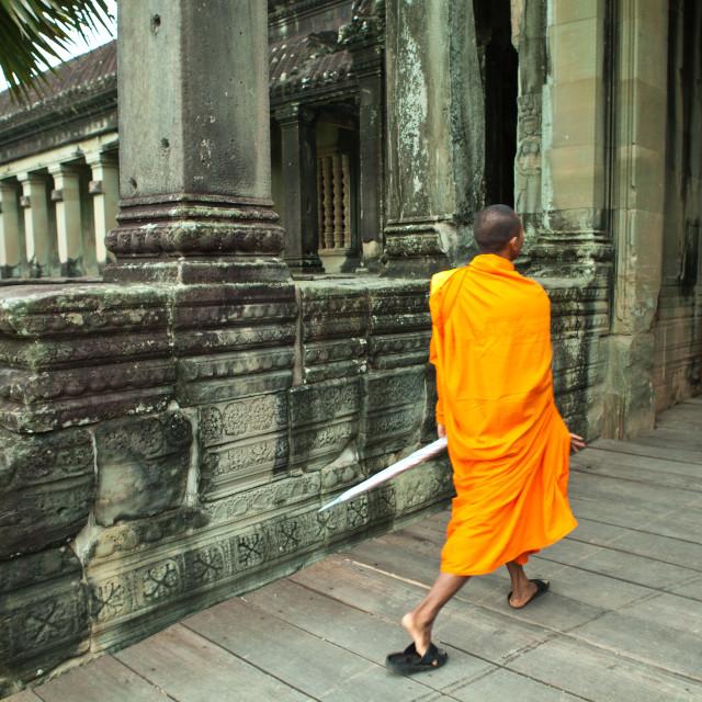 """""""Angkor Monk"""" stock image"""