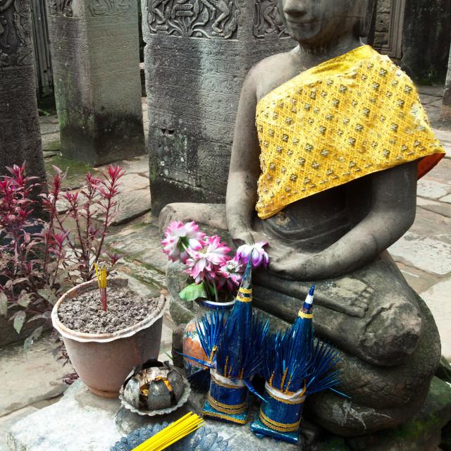 """Swathed Bayon Buddha"" stock image"