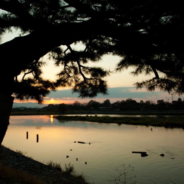 """""""Hozu River Arashiyama"""" stock image"""