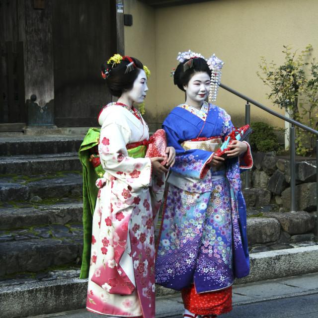 """Kyoto Maiko Geisha"" stock image"