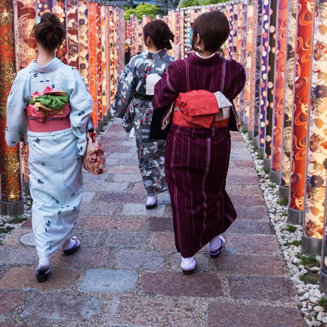 """""""Arashiyama Station Kimono Forest"""" stock image"""