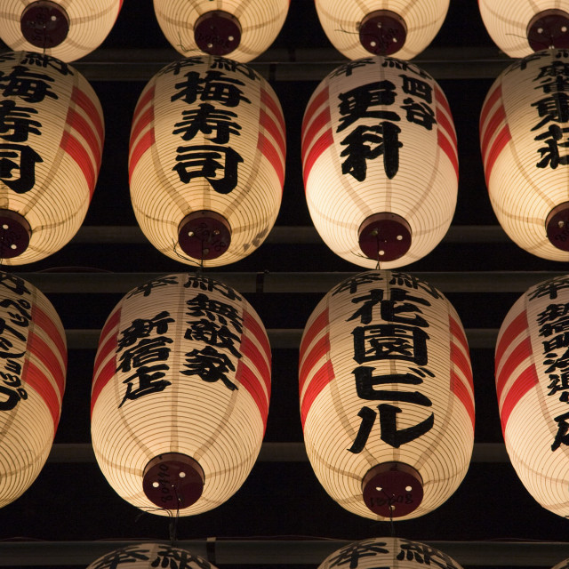 """Japanese Lanterns Chochin"" stock image"