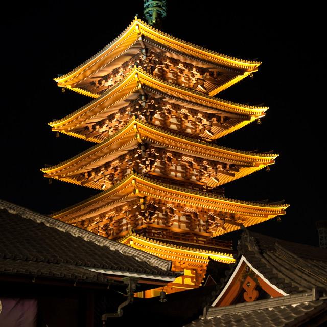 """""""Sensoji Pagoda"""" stock image"""