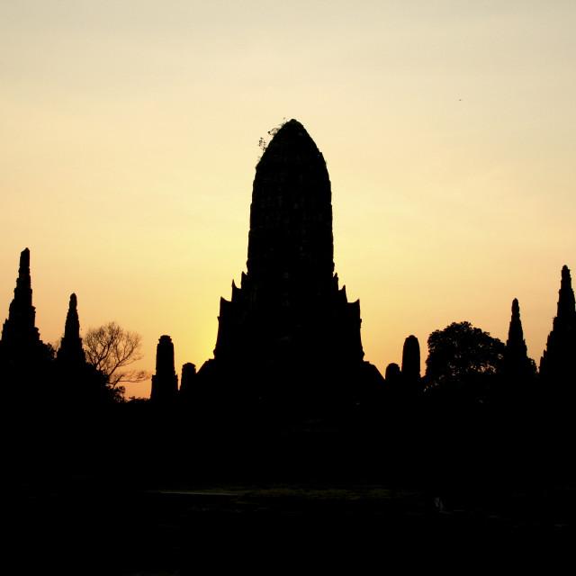 """""""Wat Chai Wattanaram"""" stock image"""