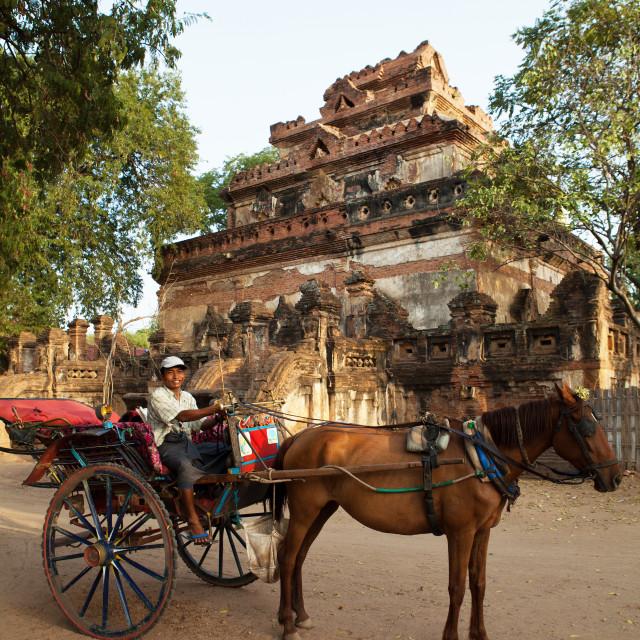 """""""Bagan Horse Cart"""" stock image"""