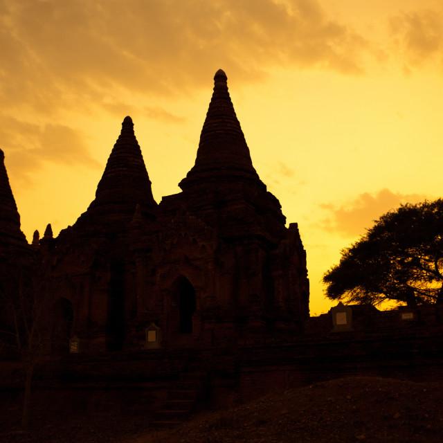 """""""Bagan Skyline Silhouette"""" stock image"""