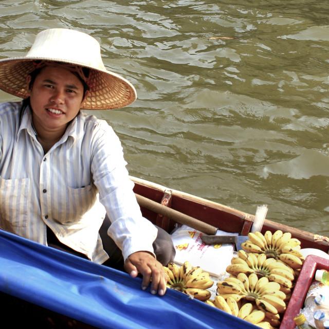 """""""Taling Chan Market Bananas, Bangkok"""" stock image"""