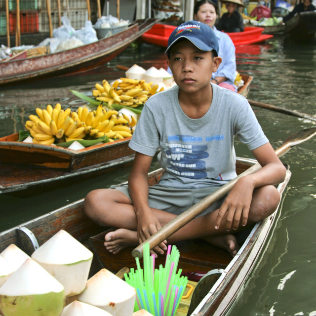 """Damnoen Saduak Floating Market"" stock image"