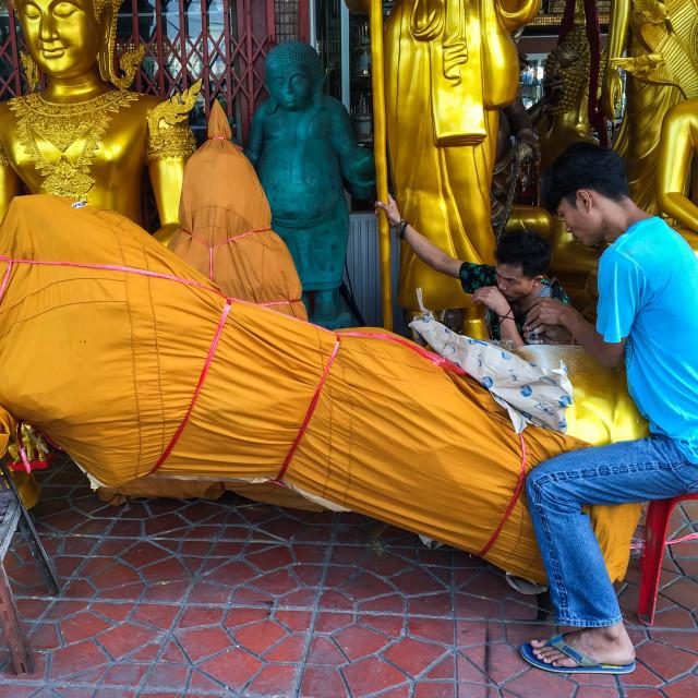 """Bangkok Buddha Street"" stock image"