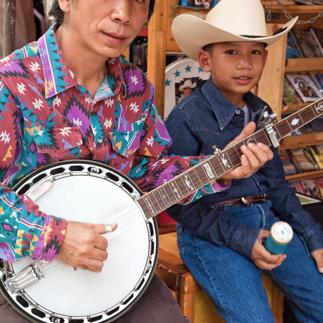 """Chatuchak Market Country Western Musicians"" stock image"