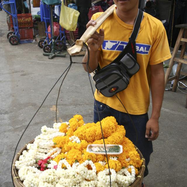 """Chatuchak Weekend Market Garland Vendor"" stock image"