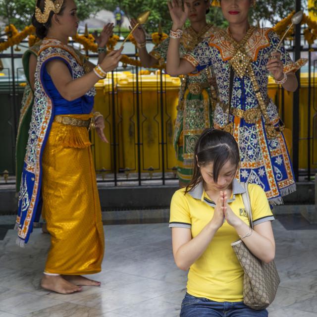 """Erawan Shrine Prayers"" stock image"