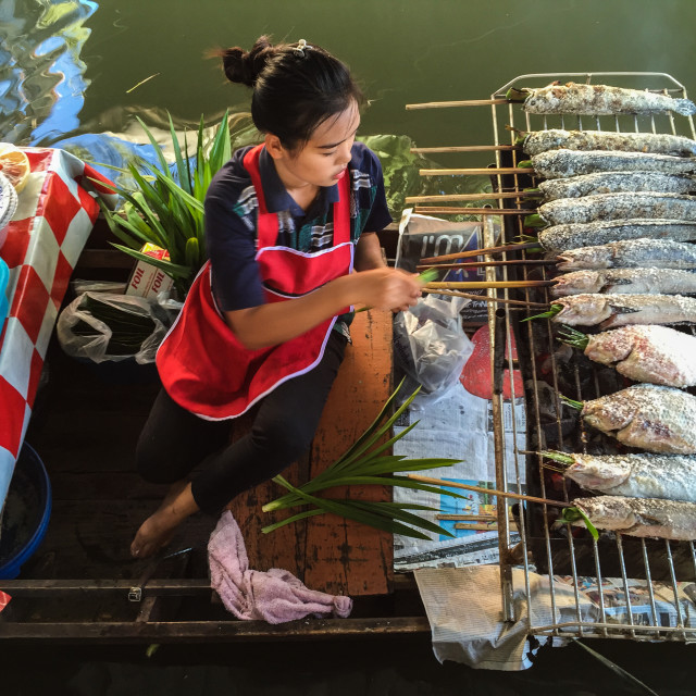 """""""Taling Chan Floating Market"""" stock image"""