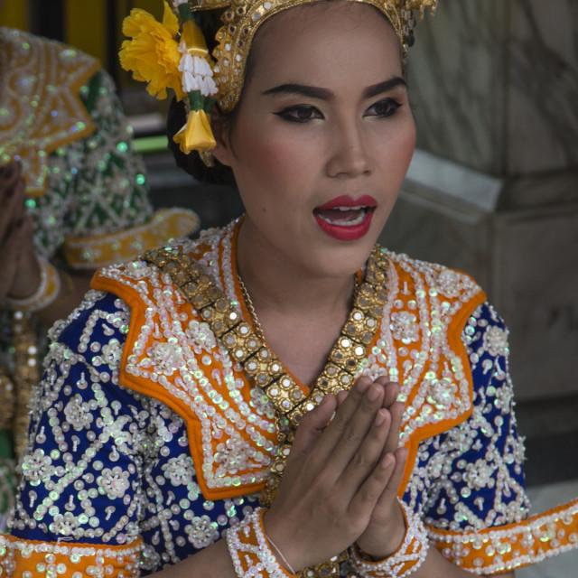"""""""Erawan Shrine Dancers"""" stock image"""