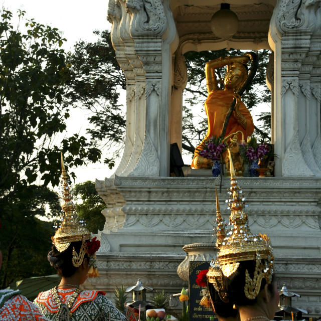 """Phra Thorani Dancers"" stock image"