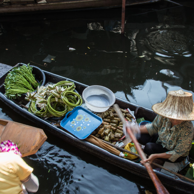 """Taling Chan Floating Market"" stock image"