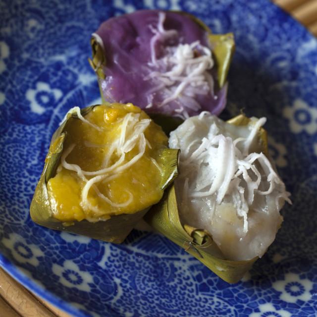 """Thai Desserts Khanom"" stock image"