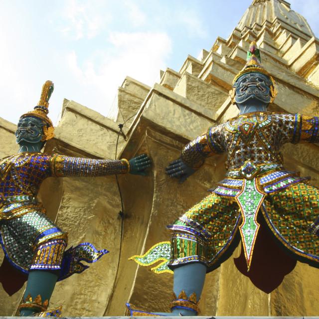 """Wat Phra Kaew Yaksha Guardians"" stock image"