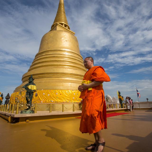 """""""Chedi at Wat Saket"""" stock image"""
