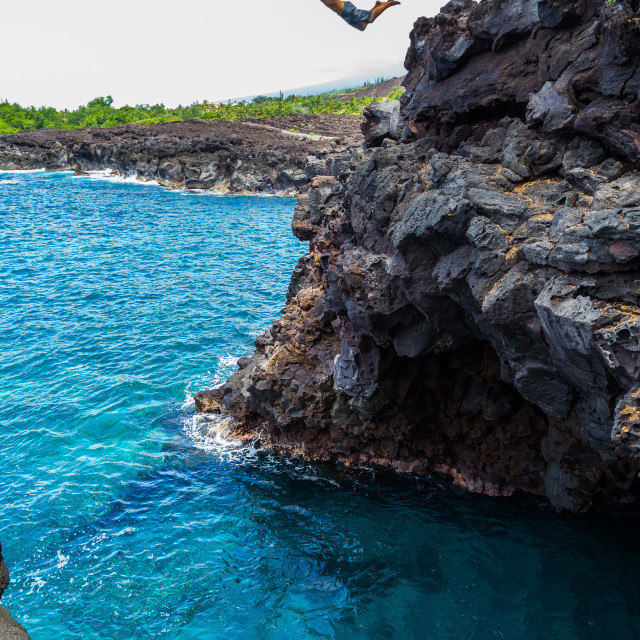 """End of the World Cliff Dive"" stock image"