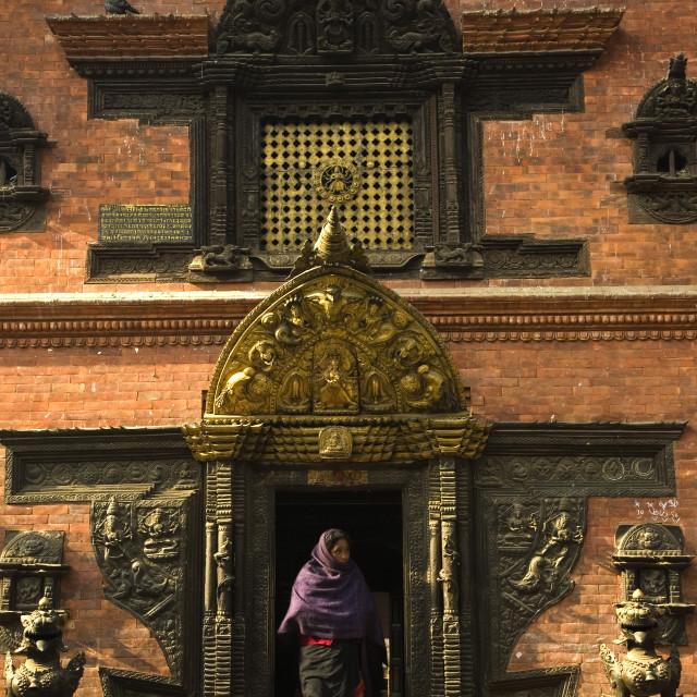 """Nava Durga Tantric Temple, Bhaktapur"" stock image"