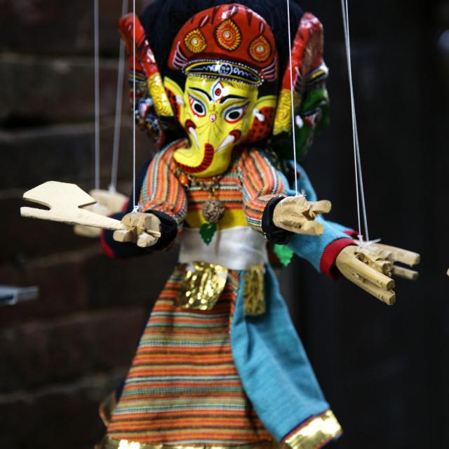 """Nepali Puppet, Bhaktapur"" stock image"