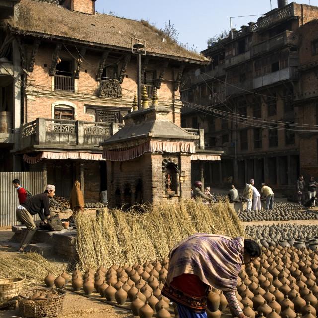 """Potters Square, Bhaktapur"" stock image"