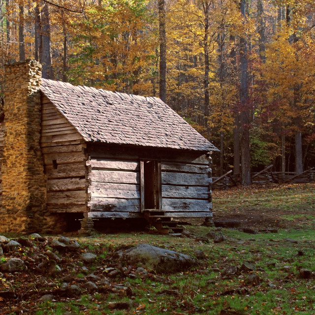 """Log Cabin"" stock image"