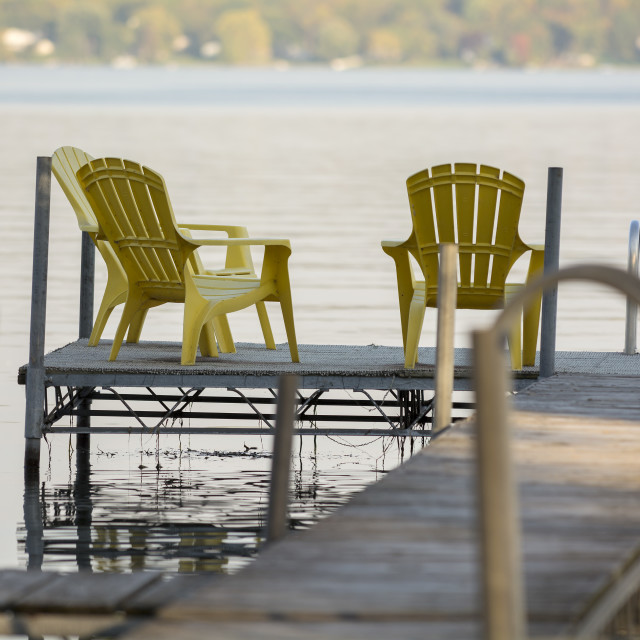 """""""Dock Chairs"""" stock image"""