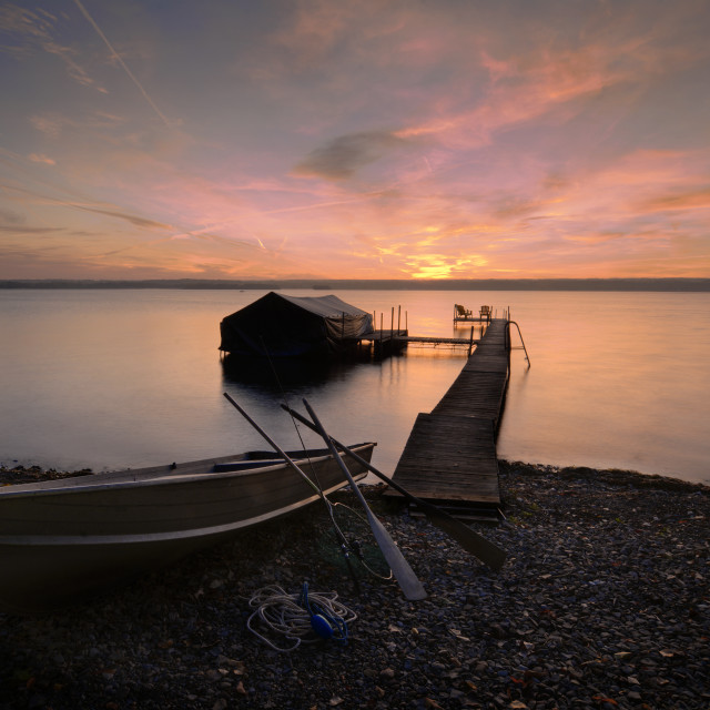 """""""Lake Cayuga Sunrise"""" stock image"""