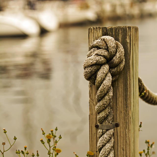 """""""Rope & Post"""" stock image"""