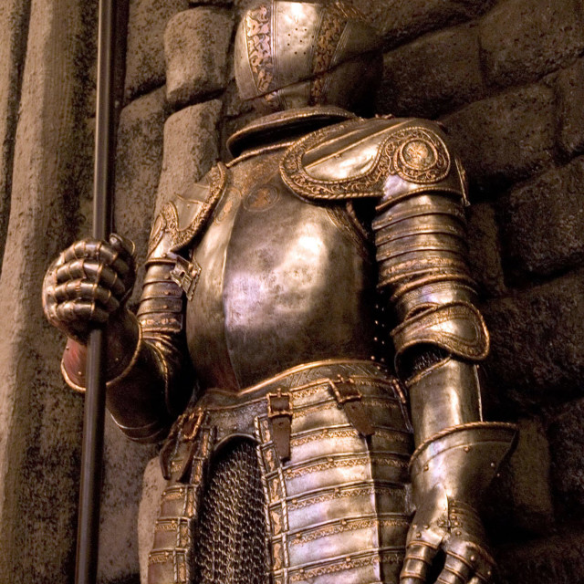 """""""Suit of Armor"""" stock image"""
