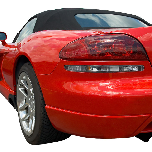 """Red sportscar form rear"" stock image"