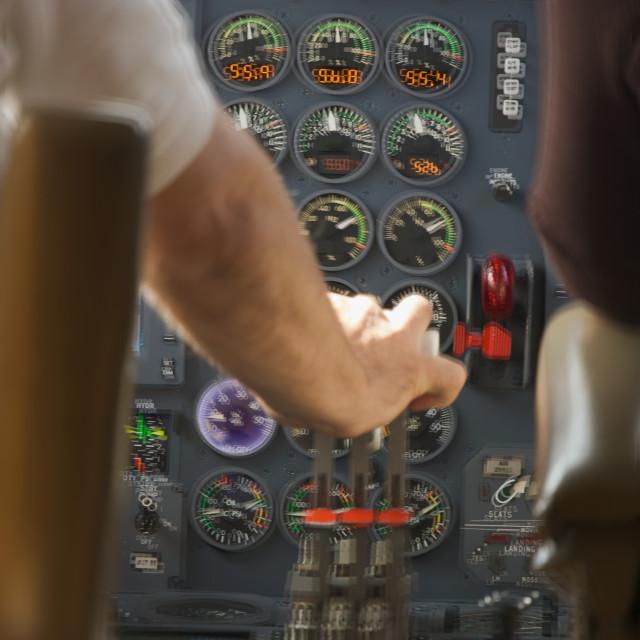 """Turbulent Jet Cockpit - Motion Added"" stock image"