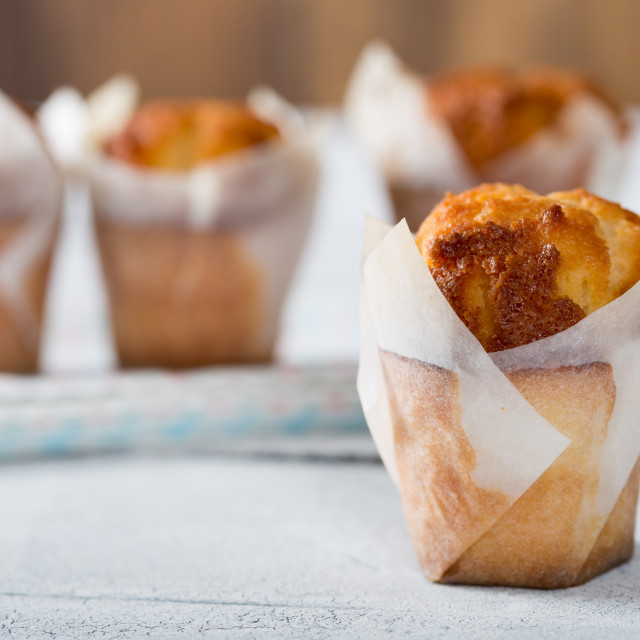 """""""Delicious homemade muffins"""" stock image"""