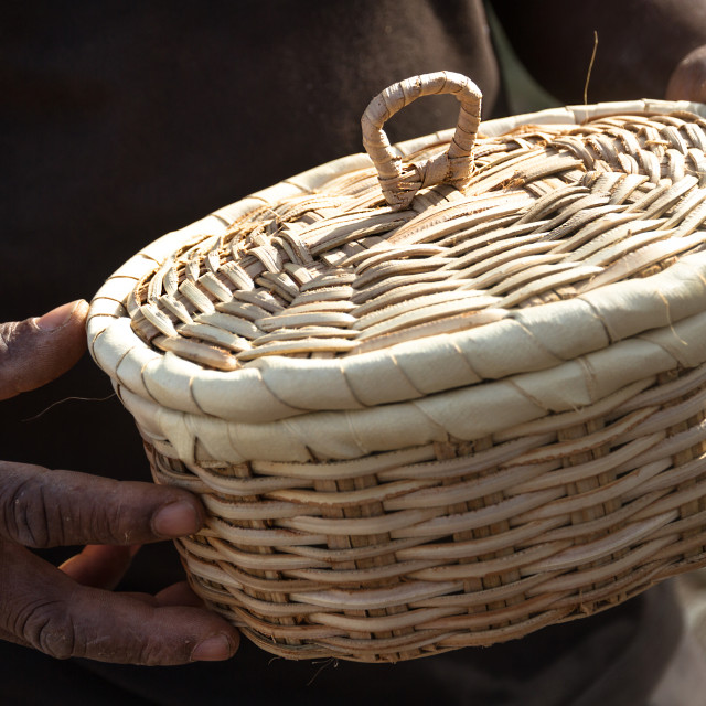 """Basket With Lid"" stock image"