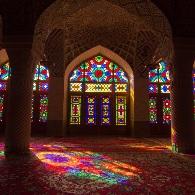 """""""Nasir ol Mulk Mosque - Shiraz, Iran"""" stock image"""