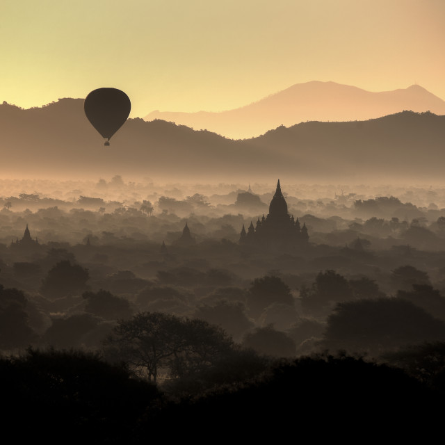 """Dawn over Bagan"" stock image"