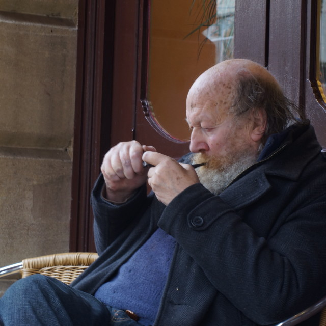 """Pipe Smoker"" stock image"