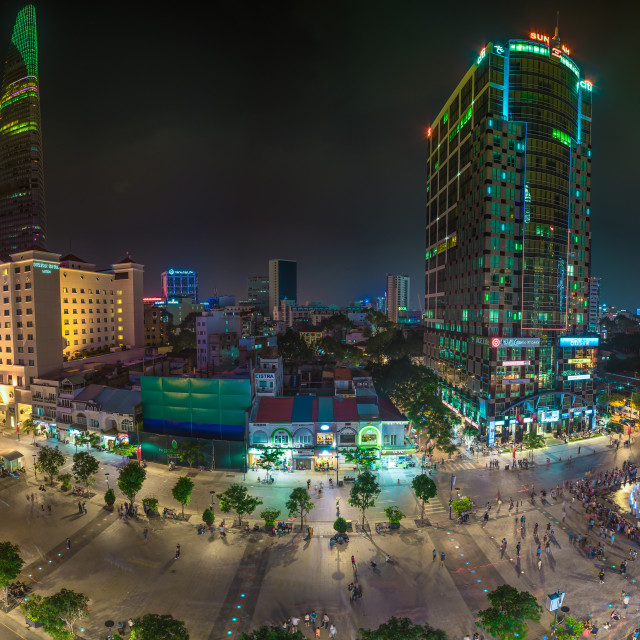 """Nguyen Hue Walking Street"" stock image"