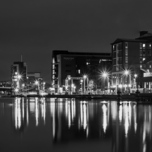 """Lincoln Brayford Pool"" stock image"
