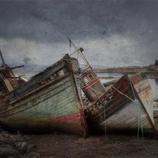 """Salens Abandoned Fishing Boats"" stock image"