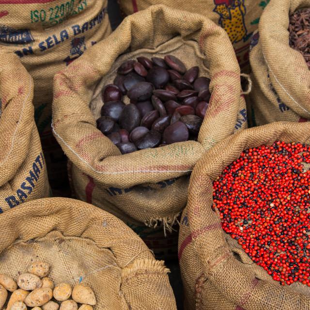 """""""Cochin Spice Market"""" stock image"""